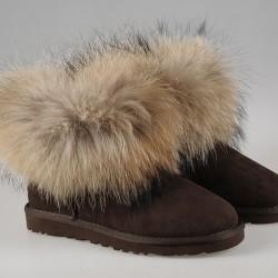 UGG Mini Fox Fur - Brown fox fur