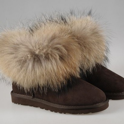 UGG Mini Fox Fur - Brown fox fur