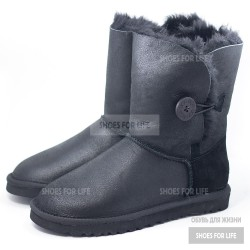 UGG Bailey Button - Metallic black