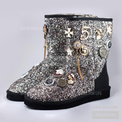 UGG Chanel sparkles