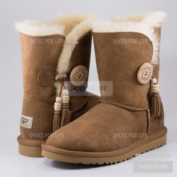 Ugg Bailey Button Charms - Chestnut