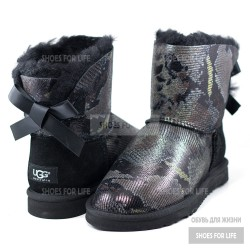 UGG Mini Bailey Bow -  Black Snake