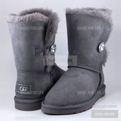UGG Bailey Bling Button - Grey