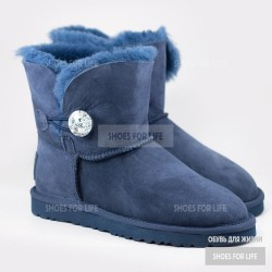 Ugg Mini Bailey Bling Button - Navy Blue