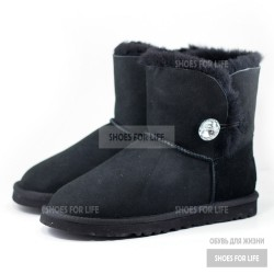 Ugg Mini Bailey Bling Button - Black