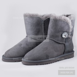Ugg Mini Bailey Bling Button - Grey