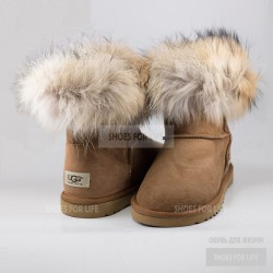 UGG Mini Fox Fur - Chestnut