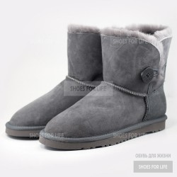UGG Mini Bailey Button - Grey