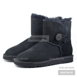 UGG Mini Bailey Button - Black