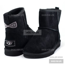 Ugg Mini Bow Crystal - Black