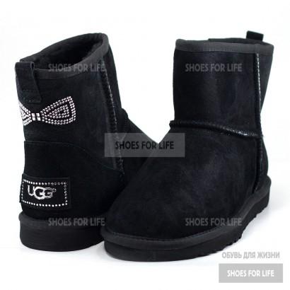 Ugg Mini Bow Crystal - Black