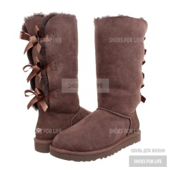 UGG Bailey Bow Triplet - Chocolate