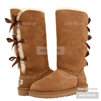 UGG Bailey Bow Triplet - Chestnut