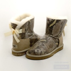 UGG Mini Bailey Bow - White Snake
